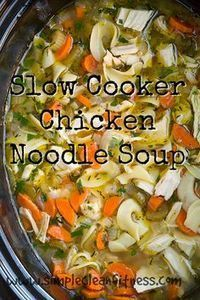 ***UPDATED*** NOW HAS 21 DAY FIX PORTIONS*** Slow Cooker Chicken Noodle Soup - 21 Day Fix Recipes - Clean Eating Recipes Healthy Recipes - Dinner - Lunch  weight loss - 21 Day Fix Meals - crockpot - www.simplecleanfitness.com