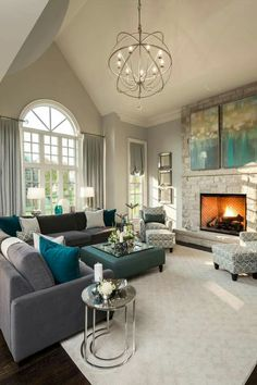 50 Turquoise Room Decorations Ideas and Inspirations | Living Rooms ...