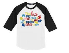 Toddler & child AUTISM raglan shirt,AUTISM AWARENESS,Autism,youth sizes,toddler size autism shirt autism,shirts for a cause,autism cause,kid by CayShaeDesigns on Etsy