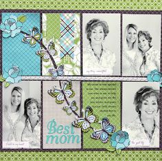 Not sure who is responsible for this #scrapbook #page #layout, but we love it here in Oklahoma's Scrap 'n Paradise Retreat http://scrapnparadise.webs.com