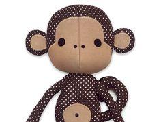 Sewing pattern Cute Monkey cloth doll plushie PDF epattern DIY