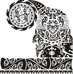Что означает данная тату? | Полинезийская татуировка