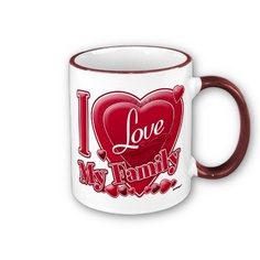 I Love My Family Red Heart Coffee Mug by ZuzusFunHouse.  This design is on 37 products.  With:  http://www.facebook.com/HudieGramGraphics  and   http://petrescuesigns.com