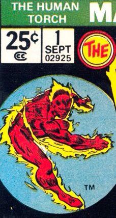 Marvel corner box art - The Human Torch