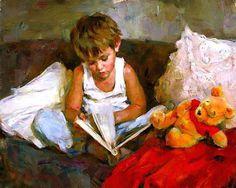 Mundo maravilhoso, 2005  Michael Garmash (Ucrânia 1969) e Inessa Garmash (Rússia, 1972)  Óleo sobre tela  [retrato do filho do casal]