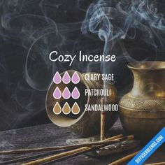 Cozy Incense - Essential Oil Diffuser Blend