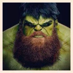 I never thought the Hulk could be more intimidating. I was wrong. The beard makes all the difference. He must use products from HighWest Beard! You grow the beard We'll do the rest! Click the link in the bio! I Love Beards, Great Beards, Caricature, Badass Beard, Epic Beard, Beard Quotes, Beard Game, Beard Humor, Beard Lover
