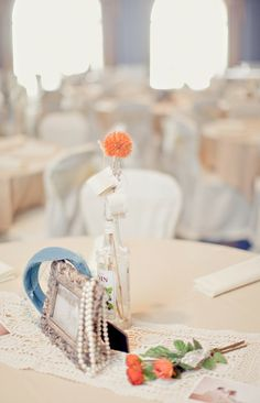 2014 DIY Beach Wedding Centerpiece Ideas, glass table decor for beach wedding
