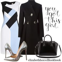 A fashion look from September 2015 featuring sleeveless dress, STELLA McCARTNEY and christian louboutin shoes. Browse and shop related looks. Work Fashion, Fashion Outfits, Womens Fashion, Classy Outfits, Stylish Outfits, New York Fashion Week 2017, Corporate Wear, Looks Chic, Business Outfits
