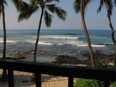 Ocean Front - View from the lanai.