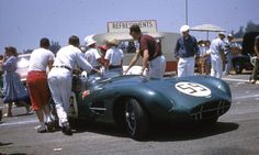 Bob Oker -- Aston Martin DBR2 Oker had driven earlier-model Aston Martins for Joe Lubin, and had campaigned this car in West Coast events in West Coast events in 1958, winning at Riverside on 6-29-58.