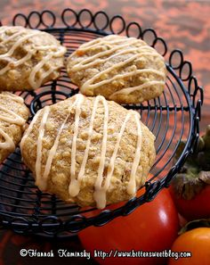 Persimmon Oatmeal Cookies by Bitter-Sweet