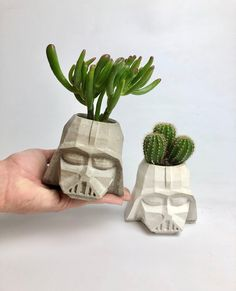 Excited to share this item from my #etsy shop: Large concrete Darth Vader planter | succulent pot | cactus pot | housewarming gift | geek gift | indoor planter | plant pot Indoor Planters, Indoor Outdoor, Concrete Plant Pots, French Bulldog Gifts, Pokemon Gifts, Cactus Pot, Star Wars Gifts, Succulent Pots, Geek Gifts