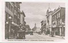 Hagerstown MD * South Potomac St. towards Square ca. 1970 RPPC Reprint