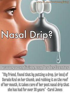 Young Living Essential Oils: #Postnasaldrip Testimony #allergies Www.Theoildropper.Com