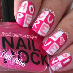 breast cancer awareness by _nail_bliss_  #nail #nails #nailart