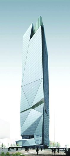 Xiamen Financial Center, Xiamen, China by Gravity Partnership, sister of C&D International Tower :: 49 floors, height modern ☮k☮ architecture Architecture Design, Facade Design, Futuristic Architecture, Beautiful Architecture, Contemporary Architecture, Architecture Drawings, Unusual Buildings, Amazing Buildings, Modern Buildings