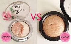 MAC Soft and Gentle - £2 vs Essence 3D Eyeshadow 08 Irresistable Vanilla Latte - £2.80