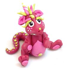 Polymer Clay Dragon 'Ruby' - Limited Edition Collectible by KatersAcres on Etsy