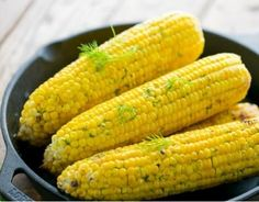 Grilled corn on the cob in foil makes the perfect addition to your summer. Foil-grilled corn is easy, juicy and irresistible with our lemon dill butter! Flavored Butter, Taco Soup, Kabobs, Great Recipes, Food To Make, Side Dishes, Grilling, Lemon, Food And Drink