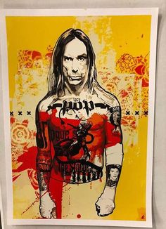 Happy Birthday, Iggy Pop Art by Red Ape Concert Posters, Pop Art Print, Best Street Art, Rock Posters, Illustration Art, Music Art, Posters Art Prints, Rock Art, Pop Culture