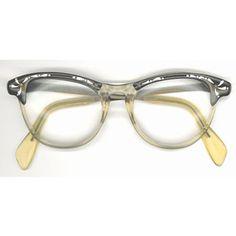 ebefcb05740 Vintage Plastic and Aluminum Women s Rhinestone Eyeglass Frames  polyvore.com Granny Glasses