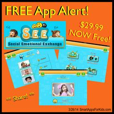 FREE APP ALERT! S.E.E (Social Emotional Exchange) From $29.99 to FREE! http://www.smartappsforkids.com/2014/03/free-app-alert-see-social-emotional-exchange-from-2999-to-free.html