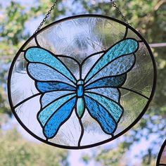 Stained Glass Butterfly | Stained Glass Blue Butterfly