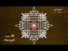 Simple and Easy Padi Kolam with dots Easy Rangoli Designs Videos, Simple Rangoli Border Designs, Rangoli Designs Latest, Rangoli Designs Flower, Free Hand Rangoli Design, Small Rangoli Design, Rangoli Designs Diwali, Rangoli Designs With Dots, Rangoli With Dots