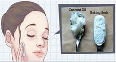 Say hello to this natural facial cleanser with coconut oil and baking soda, and say goodbye to wrinkles and sagging facial skin! This is how to use coconut oil and baking soda to look 10 years youn… Natural Facial Cleanser, Natural Face, Face Cleanser, Natural Shampoo, Facial Serum, Facial Hair, Baking With Coconut Oil, Coconut Oil Uses, Les Rides