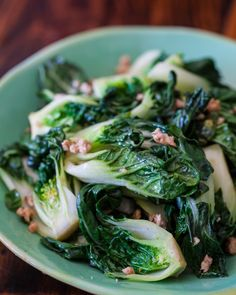 Baby Bok Choy with Ground Chicken Stir Fry by steamykitchen #Bol_Choy #Chicken #Healthy