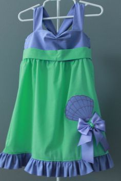DISNEY PRINCESS INSPIRED EVERYDAY OUTFITS FOR GIRLS   Disney Princess Inspired Little Mermaid Dress for Girls with Hairbow ...