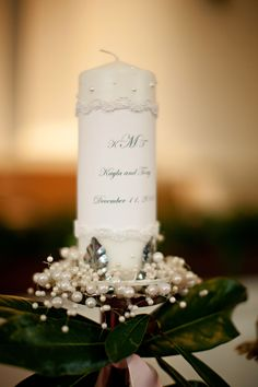 DIY Unity Candle...stick on pearls