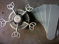 Callies crafts ceiling fan makeover living room pinterest refurbished ceiling fans mozeypictures Image collections
