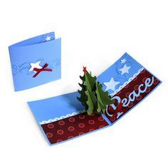 Peace Christmas Tree Pop-Up Card