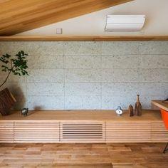 自然の恵みを感じる家の部屋 テレビボード