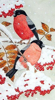 Ich finde die 'Wintergäste' von Maria Inhoven bei artflakes.com einfach herrlich!