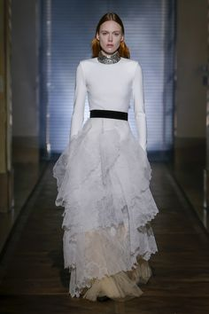 ce71dce4f7d0 Clare Waight Keller s first couture show for Givenchy included several  bridal-worthy gowns. This