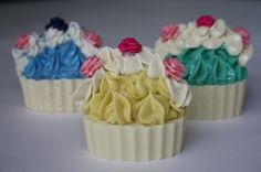 Soap cold process soap cup cake basket of by NicoleRoyalCreations