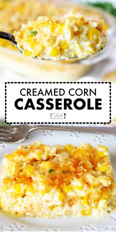 Cream Corn Casserole with Cream Cheese