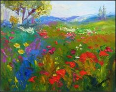 The Poppy Field, painting by artist Maryanne Jacobsen