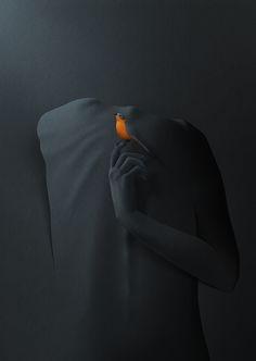 I found my silence, paper cut illustration by Eiko Ojala - Ego - AlterEgo Eiko Ojala, Paper Illustration, Monochrom, Photomontage, Dark Art, Oeuvre D'art, Collage Art, Collage Portrait, Digital Collage