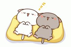 The perfect Peachcat Napping Sleeping Animated GIF for your conversation. Cute Couple Cartoon, Cute Cartoon Pictures, Cute Love Cartoons, Cute Love Pictures, Cute Love Gif, Cute Cat Gif, Cute Bear Drawings, Cute Kawaii Drawings, Cute Kawaii Animals