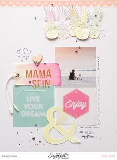 "Layout mit Pinkfresh Studio July Kit & Webster´s Pages ""Happy"""