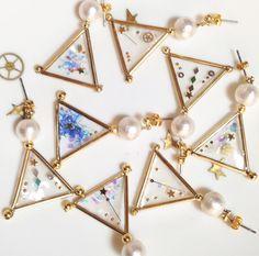幾何学の星ピアス