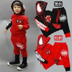 2bf71453d Spiderman niños ropa conjunto bebé niño Spider hombre deportes trajes 2-6  AÑOS NIÑOS unids 2 piezas conjuntos primavera otoño ropa chándales