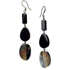 Salon scintillations earrings ($209) ❤ liked on Polyvore featuring jewelry, earrings, beaded earrings, sea shell jewelry, shell jewelry, beaded jewelry and bead jewellery