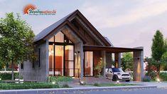 แบบบ้านสไตล์โมเดิร์นมินิมอล 3 ห้องนอน 2 ห้องน้ำ พื้นที่ใช้สอยทั้งหมด 85 ตารางเมตร   ไอเดียสร้างบ้าน Modern Small House Design, Modern Minimalist House, Small Modern Home, Minimal Home, One Storey House, Kerala Houses, Beautiful House Plans, Ethnic Home Decor, My House Plans