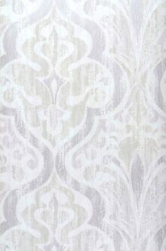 54,54€ Preço por rolo (por m2 10,29€), Novidades em papel de parede, Material base: Papel de parede TNT, Superfície: Liso, Efeito: Mate, Design: Damasco barroco, Cor base: Branco creme, Cor do padrão: Violeta pastel pálido, Bege acinzentado claro, Cinza prateado brilhante, Características: Boa resistência à luz, Baixa inflamabilidade, Removível, Colar na parede, Com esponja ou pano úmido