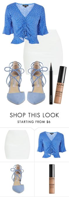 """Untitled #396"" by spacehive666 ❤ liked on Polyvore featuring Topshop, Kristin Cavallari, NYX and MAC Cosmetics"